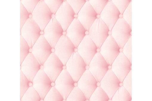 Papier peint capitoné rose poudré