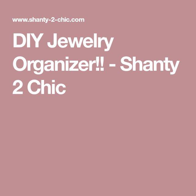 The 25 best Diy jewelry organizer ideas on Pinterest Diy