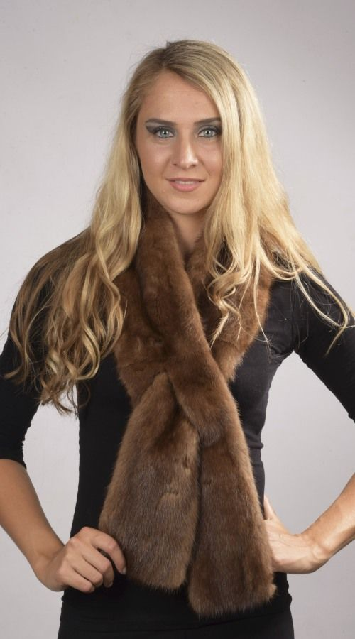 Soft mink fur scarf  www.amifur.co.uk