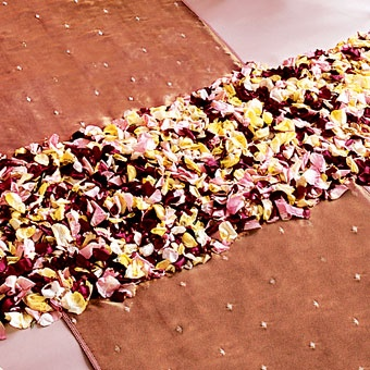 Fall Colored Rose Petal Runners