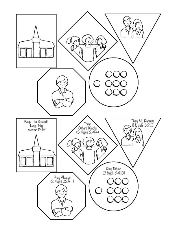 Primary 3 Lesson 3 The Commandments Help Us Choose the Right #primary #lds printables and ideas