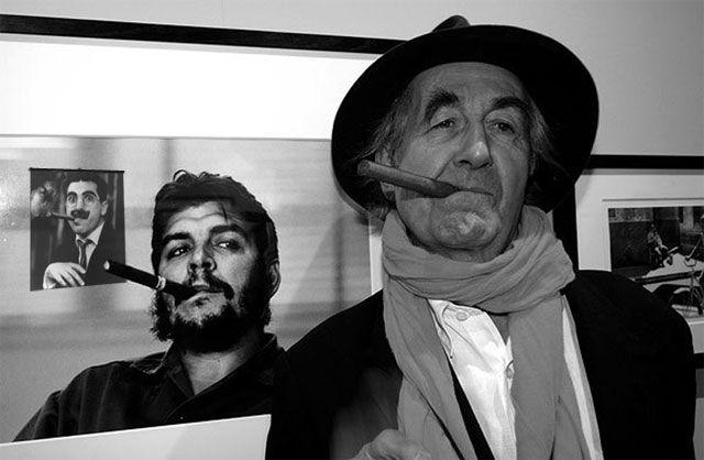 René Burri (autoscatto) – Che Guevara e René Burri