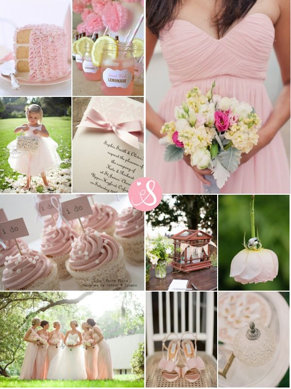 Blushing Pink Inspiration Board - She Wears White