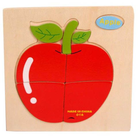Wooden 3D Children Puzzles Toys For Animal /Fruit