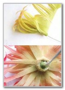 assembly of silk chrysanthemum flower