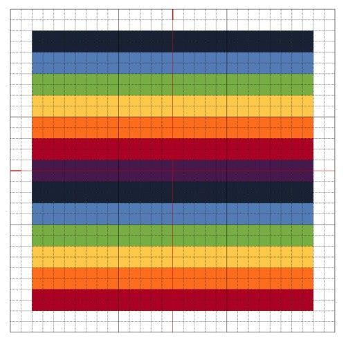 Cross Stitch Rainbow Block 4