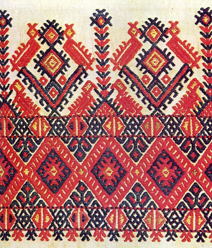An example of Cretan embroidery.