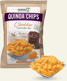Gluten Free Cheddar Chips, LIke Sun Chips from Simply7 - Reviewed on USALoveList.com