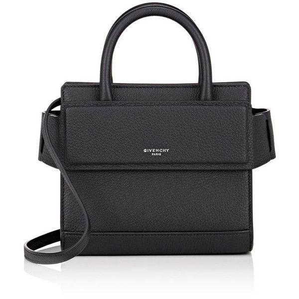 Givenchy Women's Horizon Nano-Bag ($1,390) ❤ liked on Polyvore featuring bags, black, snap bag, flat bags, strap bag, handle bag and givenchy bags