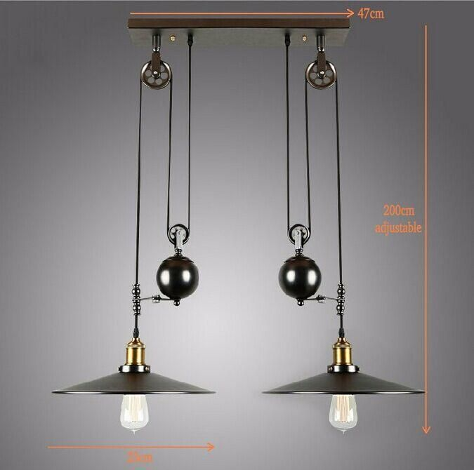 Vintage Pulley Pendant Light | Pulley pendant light, Vintage