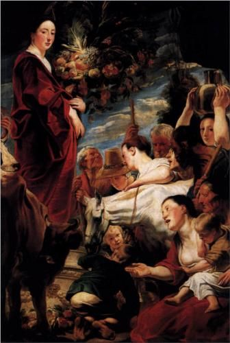 An Offering to Ceres, Goddess of the Harvest - Jacob Jordaens
