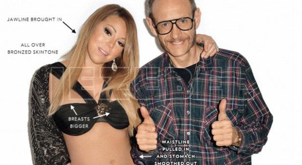 Estas fotos de Mariah Carey antes y después de Photoshop podrían ser de mujeres distintas | Pulzo.com http://www.pulzo.com/entretenimiento/175391-estas-fotos-de-mariah-carey-antes-y-despues-de-photoshop-podrian-ser-de
