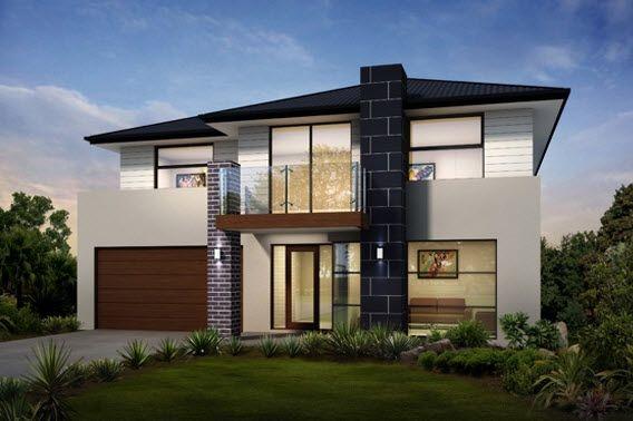 Plano de Casa de 1 piso y 3 dormitorios Moderna