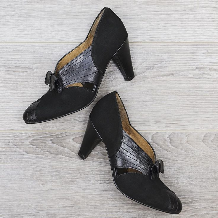 Kick up your heels and find a dance partner because these black suede Re-Mix Beverly Heels (sizes 6-10, $234) are begging to be taken out!