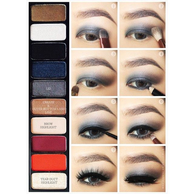 Gray brown smokey eye makeup #tutorial #maquiagm #evatornadoblog #smokeyeyes Серо-коричневый макияж смоки - урок