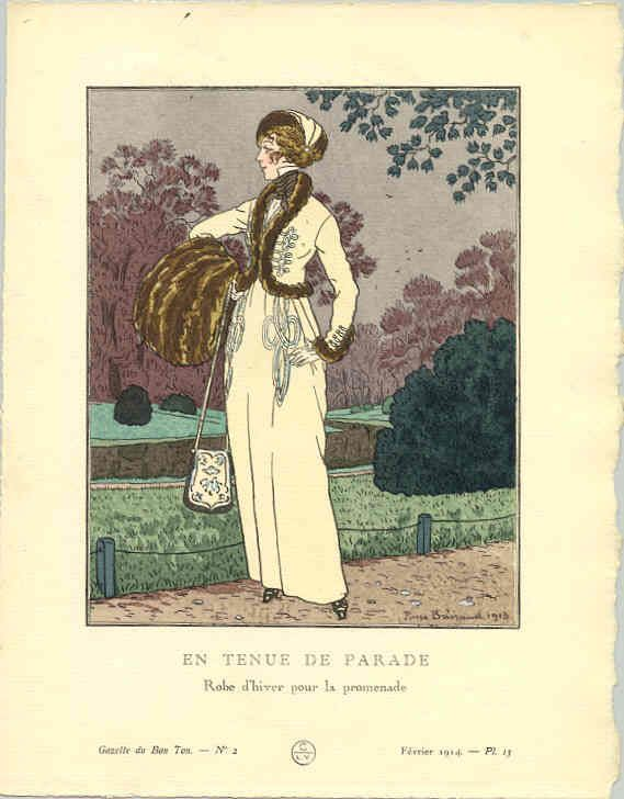 Winter promenade outfit, 1914