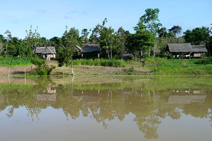 A typical riverside Amazon village, Brazil