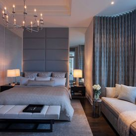 contemporary bedroom love the curved curtain track with ripple fold pleating s fold ripple fold curtains pinterest uxui designer track and the o