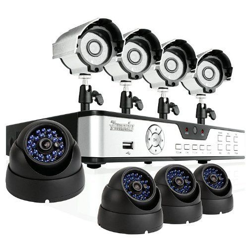 ZMODO 8CH DVR CCTV Surveillance System with 4 Sony CCD Bullet Outdoor Security Cameras and 4 Sony CCD Dome 65ft Night Vision Cameras - 1TB Hard Drive by ZMODO. $330.99. Overview The kit KDS8-NARCB44N-1TB includes an 8 CH H.264 standalone DVR and eight night vision outdoor security cameras providing everything you need to have your surveillance system up and running in your home or business quickly and easily.    DVR Features * Plug-n-Play * Record: 240 fps * Displa...