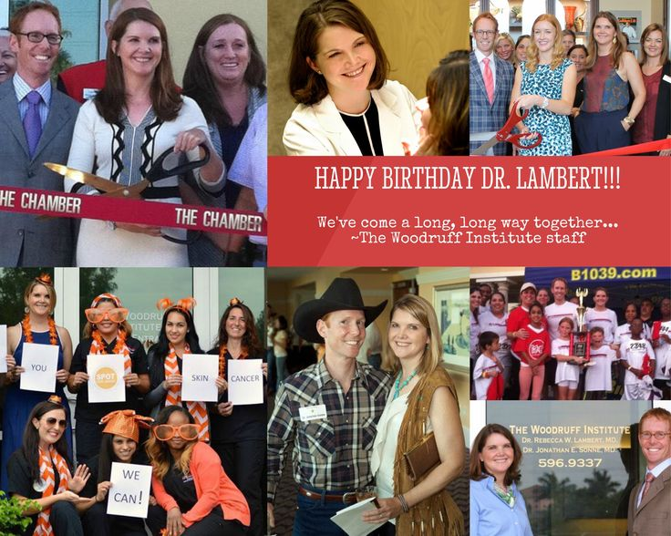 Today we are excited to celebrate & praise a very special physician on her birthday ~ Dr. Rebecca Lambert! Click below for a special musical birthday treat from the staff at The Woodruff Institute.