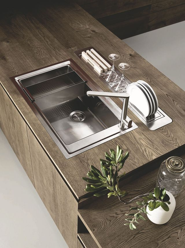 17 best ideas about plan de travail inox on pinterest for Meuble avec evier cuisine