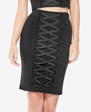 Guess Jones Lace-Up Skirt - Black XS