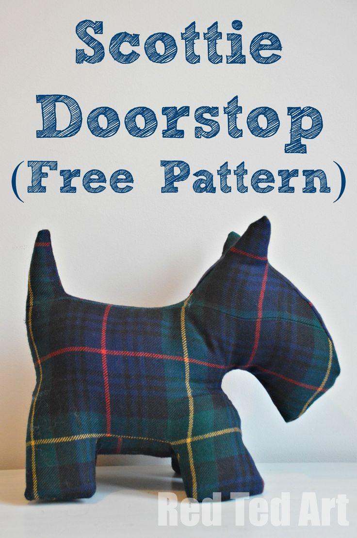 Scottie Door Stop & Free Dog Patterns