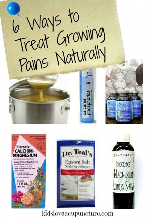 6 Ways to Treat Growing Pains Naturally