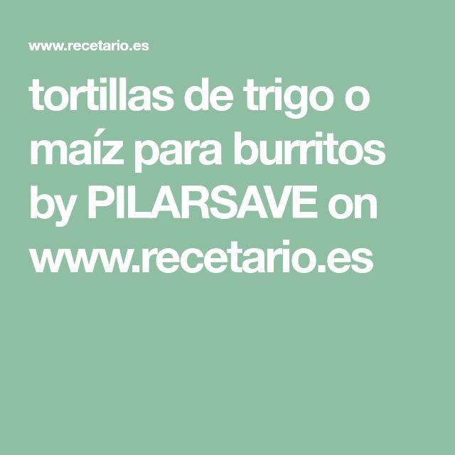 tortillas de trigo o maíz para burritos by PILARSAVE on www.recetario.es