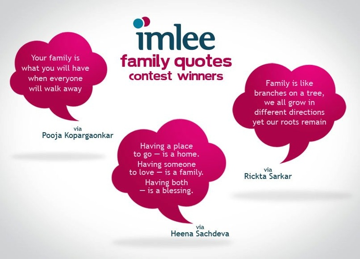 Winners of the Family Quote Contest