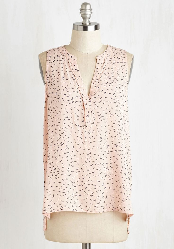 Swift Me Off My Feet Top. You cant help but fall in love when you don this super-soft sleeveless top! #pink #modcloth