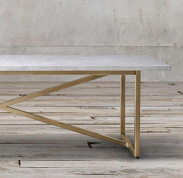 "Restoration Hardware Marble Coffee Table: Torano Marble Rectangular Dining Table, 84"", White Marble"