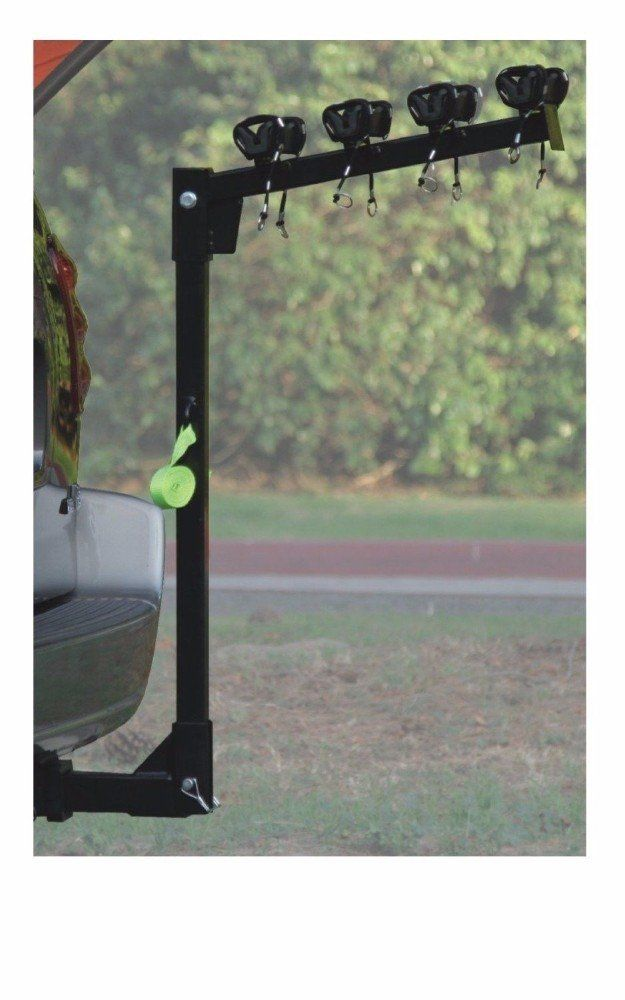 """HD 4 BICYCLE RACK Trailer Hitch BIKE CARRIER Car & Truck Racks SUV Van RV Auto. THIS IS A BRAND NEW - HEAVY DUTY - 4 BICYCLE BIKE RACK HITCH MOUNT CARRIER - This is a GREAT RACK for cars, trucks, SUVS or minivans with a 2"""" receiver!!! Don't be fooled with Similar Racks that look the same but WEIGH HALF of my High Quality Heavy Steel RACK!!! - Fits Flush into a 2"""" Receiver! Don't mess with Adapters and compromise safety!!. Heavy duty steel construction for durability. Quick attach bolt..."""