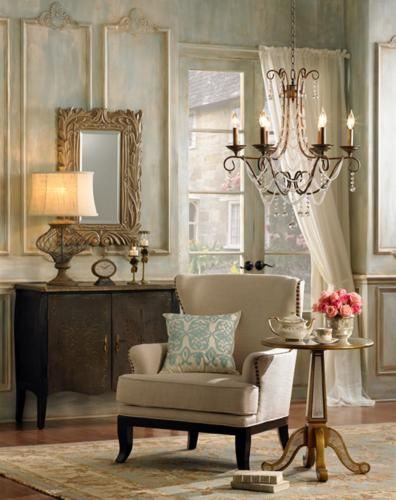 The French Salon design style is a timeless tradition of elegance. - Lighting & Decor by LampsPlus.com