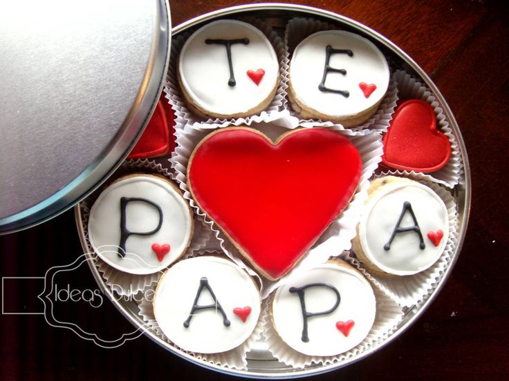 Resultado de imagen de galletas i love papa