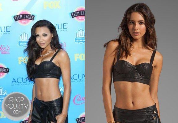 Shop Your Tv: 2013 Teen Choice Awards: Naya Rivera's Leather Bra Top
