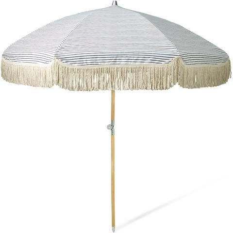 Natural Instinct Beach Umbrella by Sunday Supply Co. at Salt Living Boutique in Coolangatta, Gold Coast Australia or online at www.saltliving.com.au  #sundaysupply #saltliving #beachumbrella