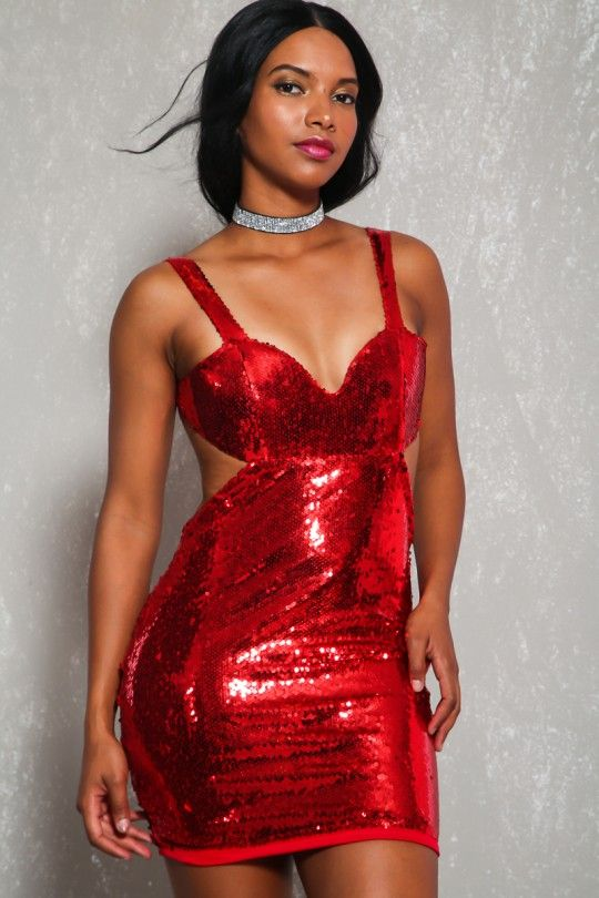 Red Leather Prom Dress