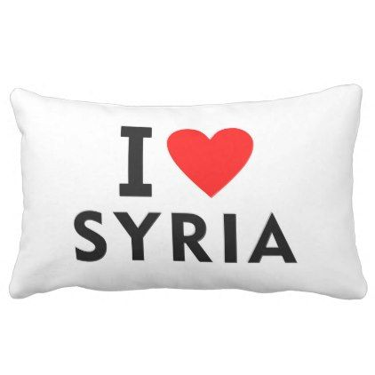 #I love Syria country like heart travel tourism Lumbar Pillow - #country gifts style diy gift ideas