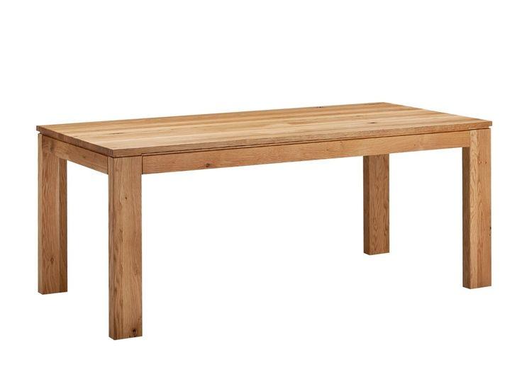 Esstisch Nora 180x90 ausziehbar Holz Wildeiche Massiv geölt 21011. Buy now at https://www.moebel-wohnbar.de/esstisch-nora-180x90-ausziehbar-holz-wildeiche-massiv-geoelt-21011