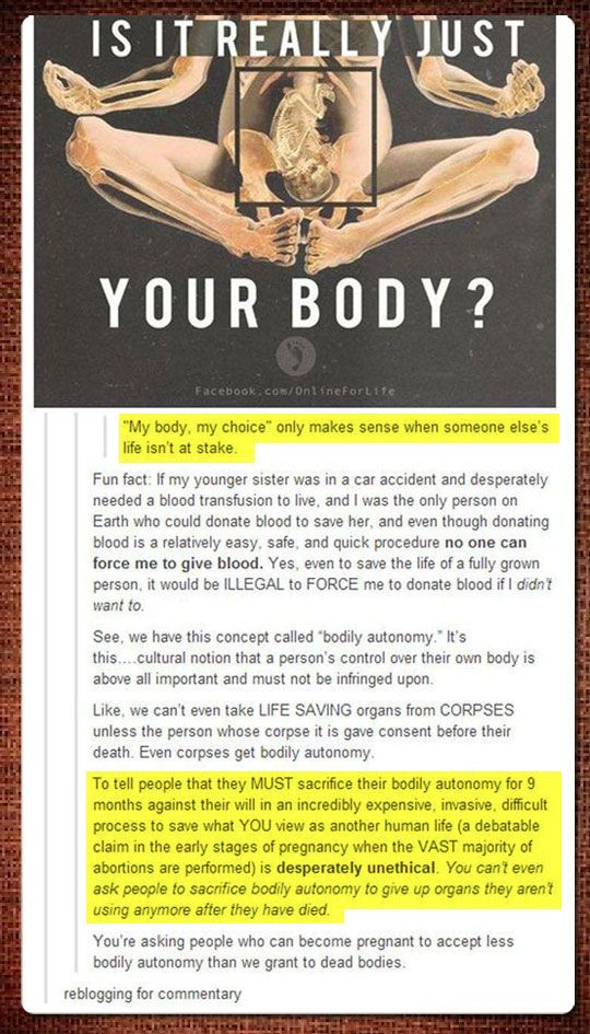 It goes both ways . . . Body autonomy