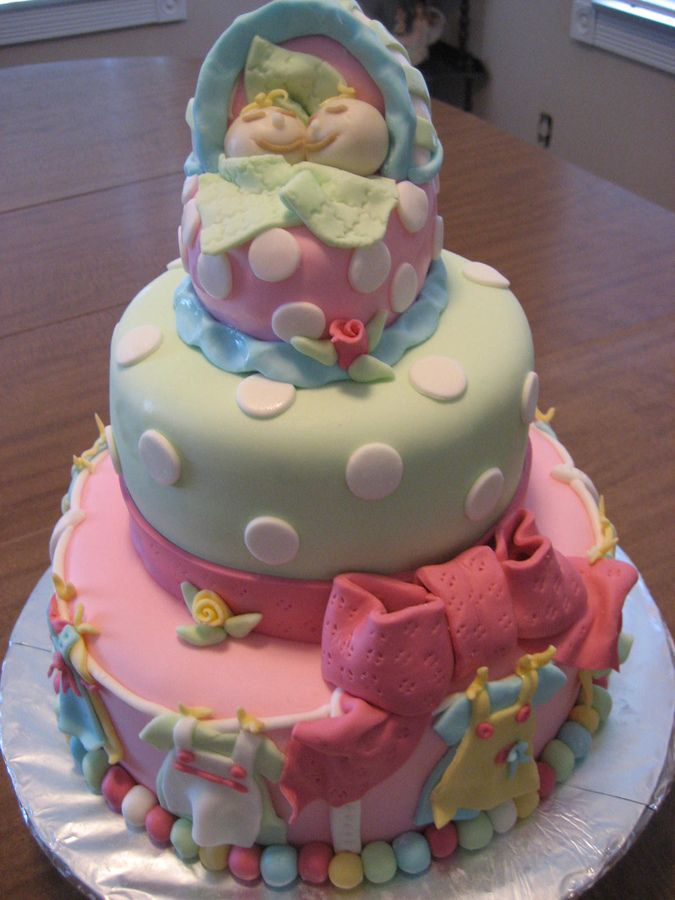Baby Shower Cakes For Twins   Google Search
