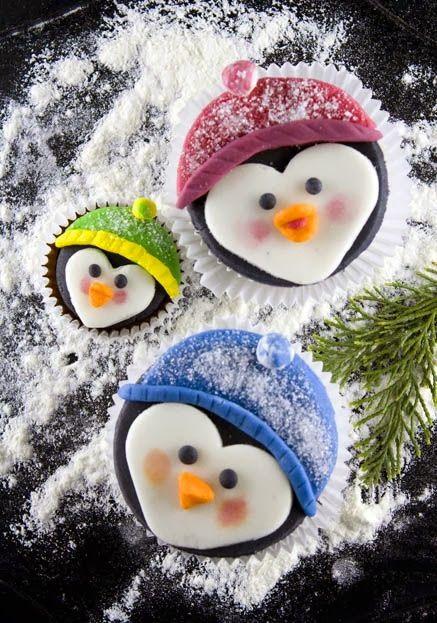 Penguin Family Cupcakes