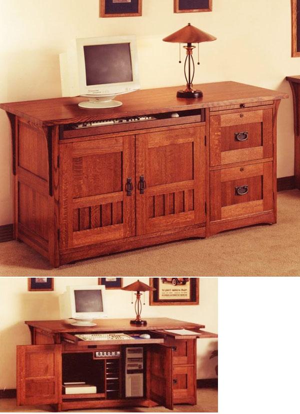Do It Yourself Home Design: Hidden Desk V.