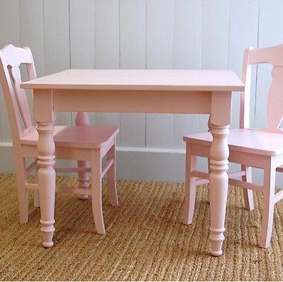 Cottage стиль Williams ребенка детский стол стул комплект твердого дерева 15 красок пятен