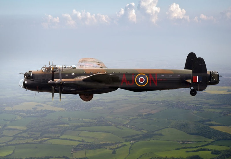 """Dambusters Lancaster AJ-N:  A specially adapted Lancaster bomber - Type 464 (Provisioning), a B III Special - carrying an Upkeep depth charge for use against German dams. This was the Barnes Wallis-designed weapon that the RAF's 617 """"Dambusters"""" Squadron used against the Ruhr dams during World War II.     This new picture is copyright © by Gary Eason / Flight Artworks and can be licensed for reproduction or bought as a print via www.flightartworks.com"""