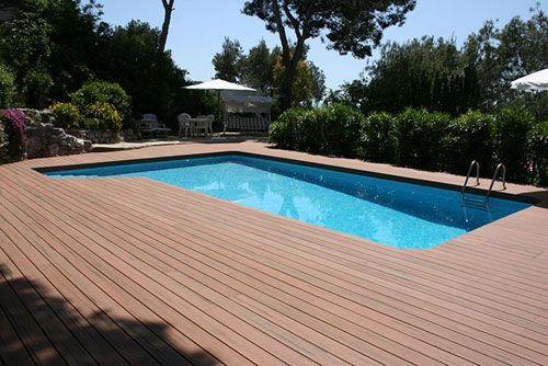 solid composite timber decking board