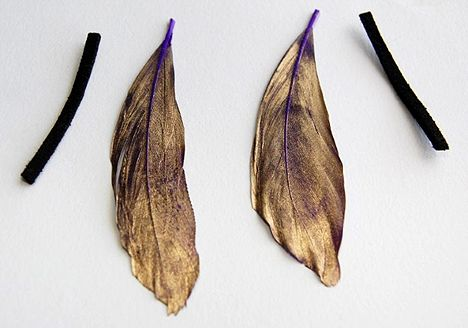 Spray painted feather earring tutorial