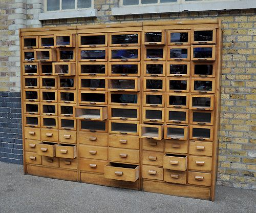 Haberdashery Cabinet - dream storage solution for all our yarn