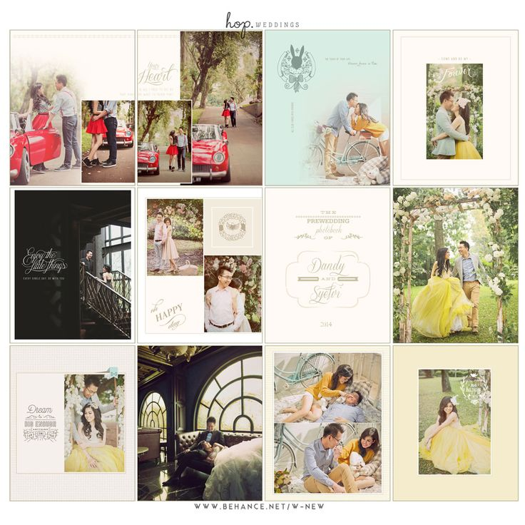 Dandy & Syielvi Prewedding Photobook, book design by Wenny Lee, photo editing by HOP & Wenny Lee, photo by HOP